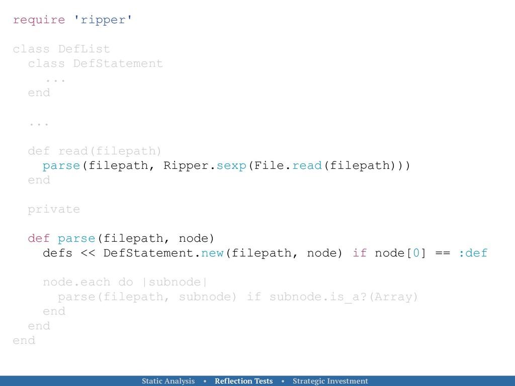 require 'ripper' class DefList class DefStateme...