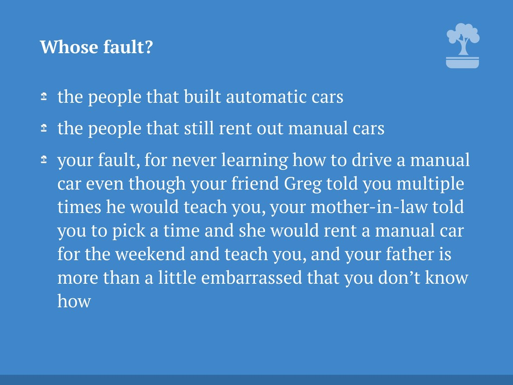the people that built automatic cars the people...