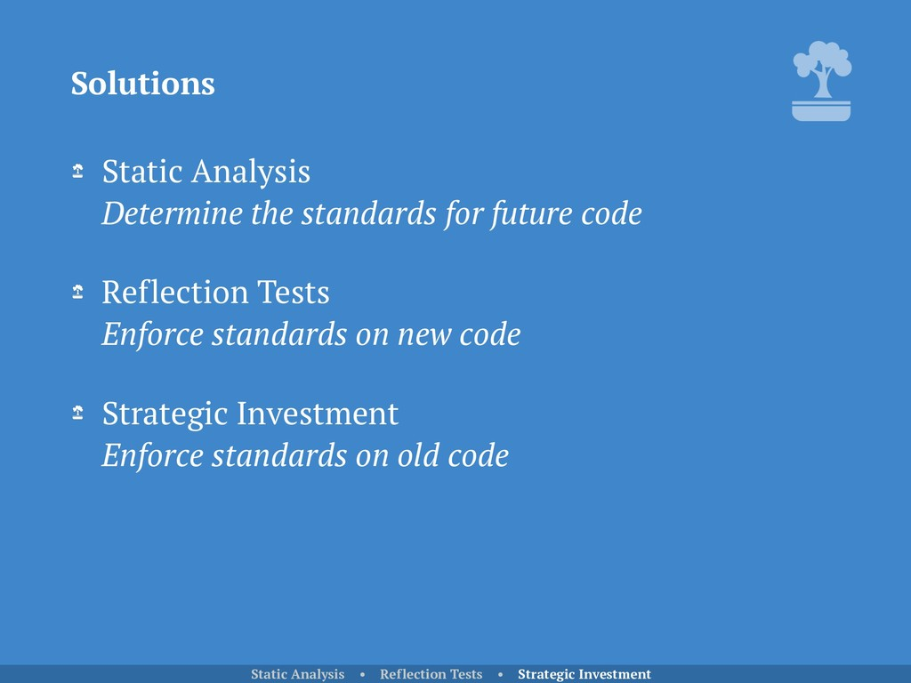 Static Analysis Determine the standards for fu...
