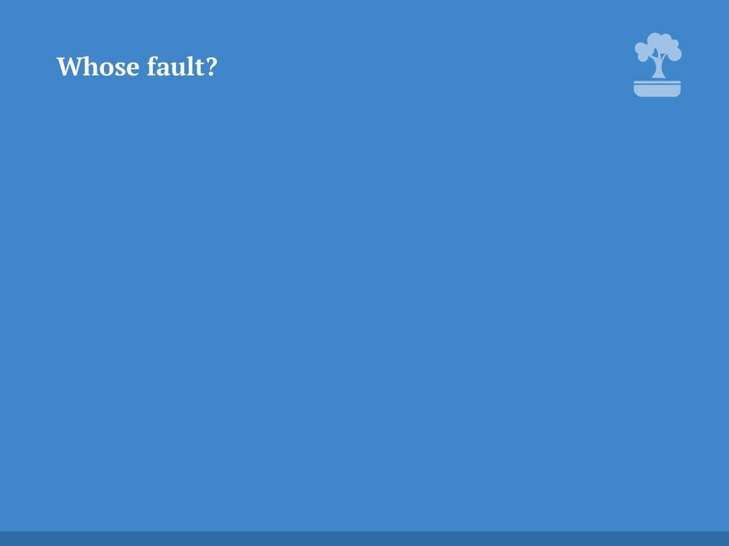 Whose fault?