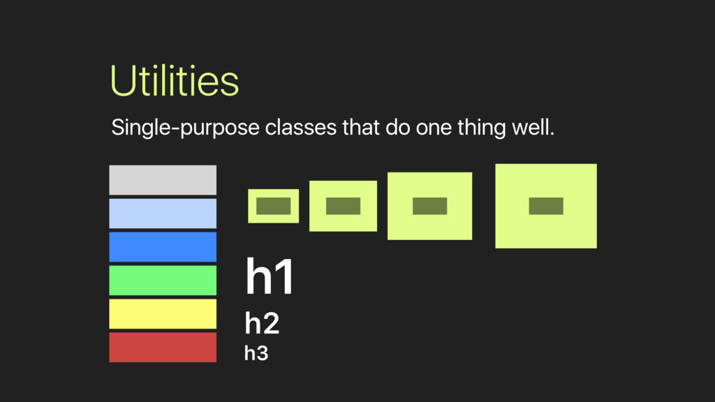 h1 h2 h3 Utilities Single-purpose classes that ...