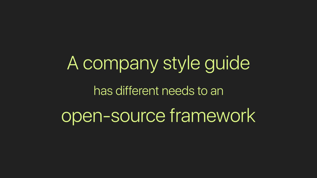 A company style guide has different needs to an...