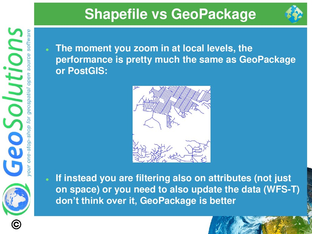 Shapefile vs GeoPackage ⚫ The moment you zoom i...