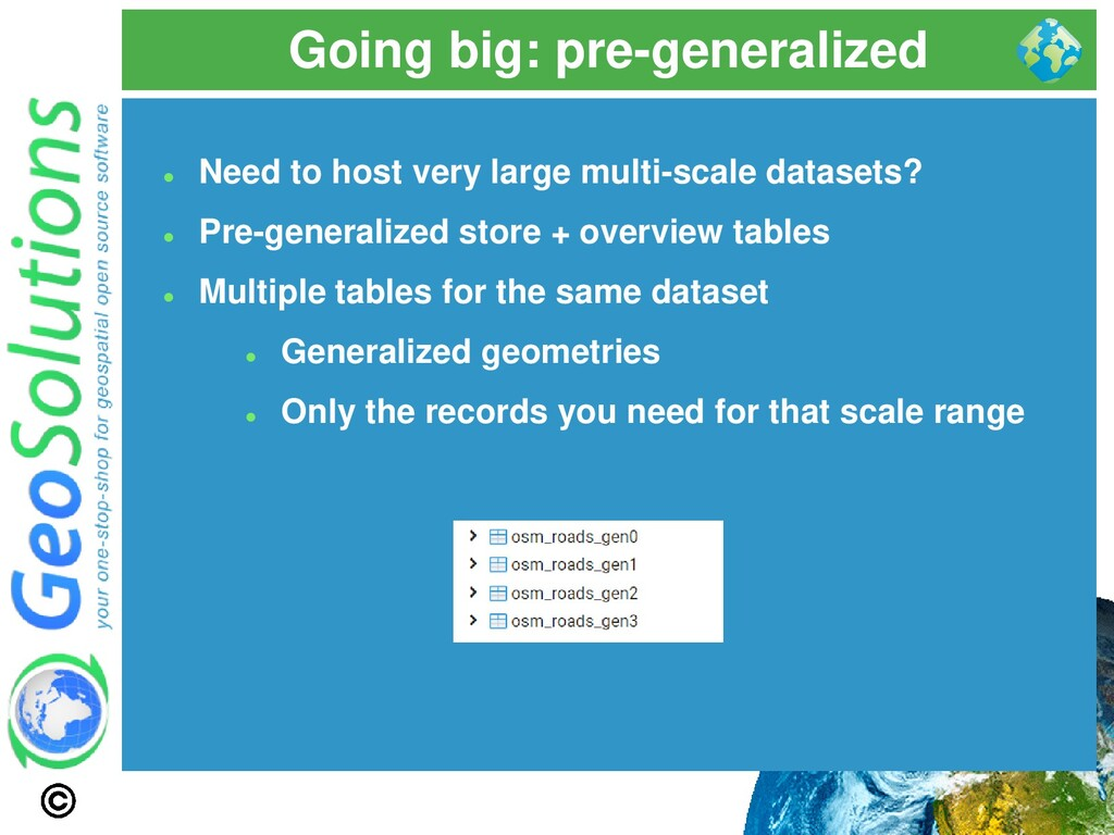 Going big: pre-generalized ⚫ Need to host very ...