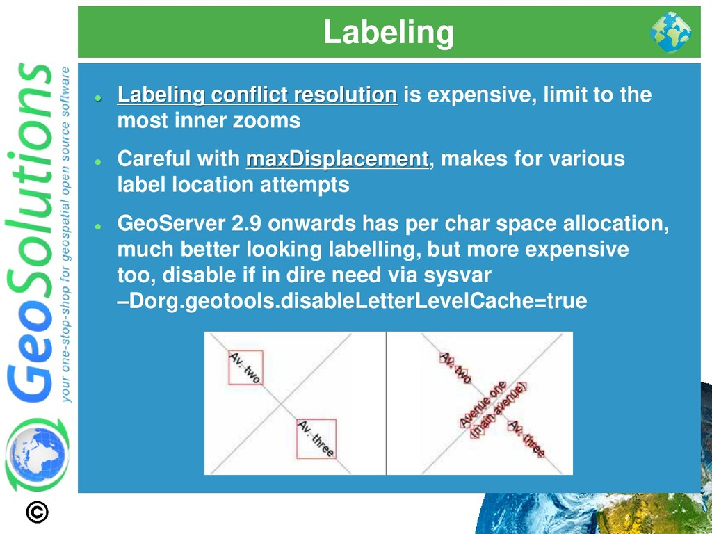 Labeling ⚫ Labeling conflict resolution is expe...