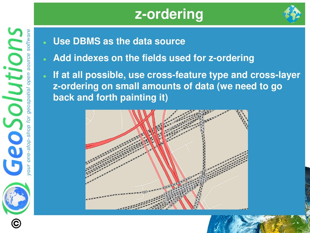 z-ordering ⚫ Use DBMS as the data source ⚫ Add ...