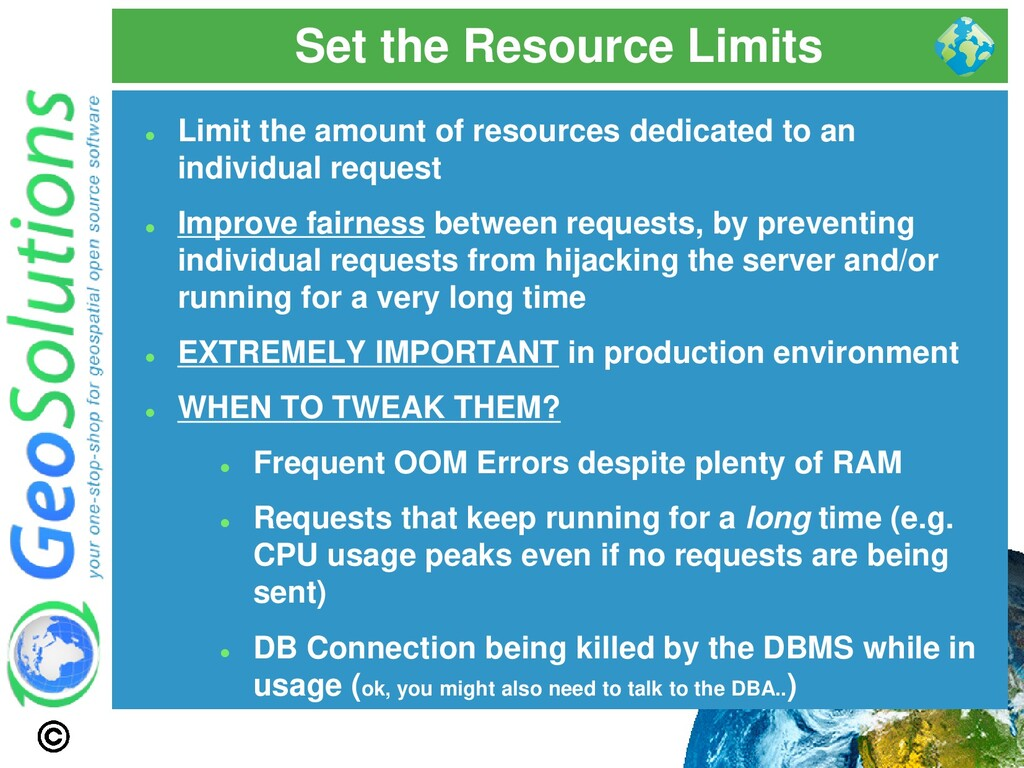 Set the Resource Limits ⚫ Limit the amount of r...