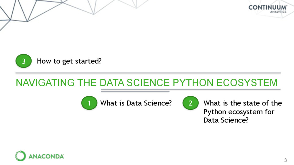 3 NAVIGATING THE DATA SCIENCE PYTHON ECOSYSTEM ...