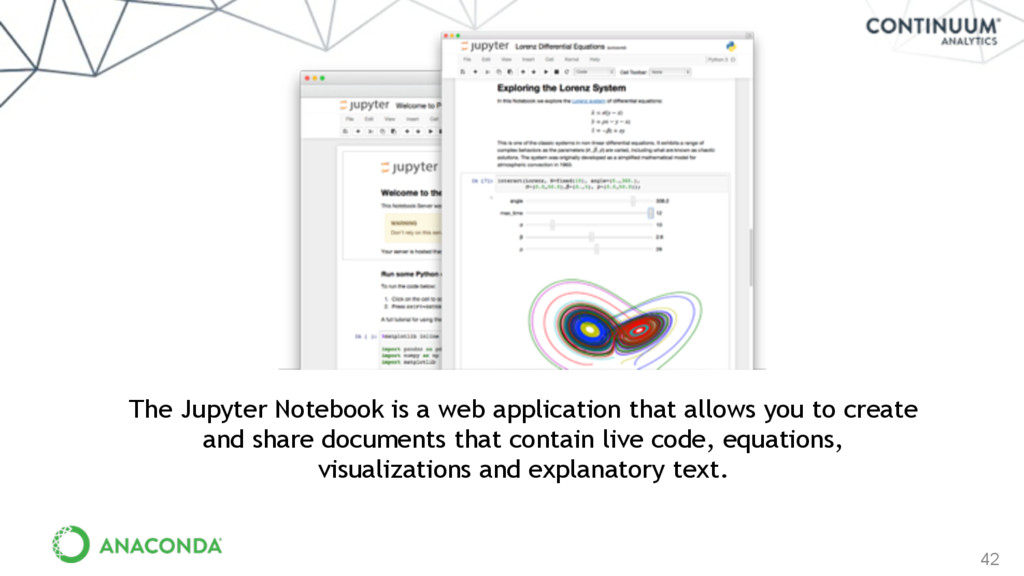 42 The Jupyter Notebook is a web application th...