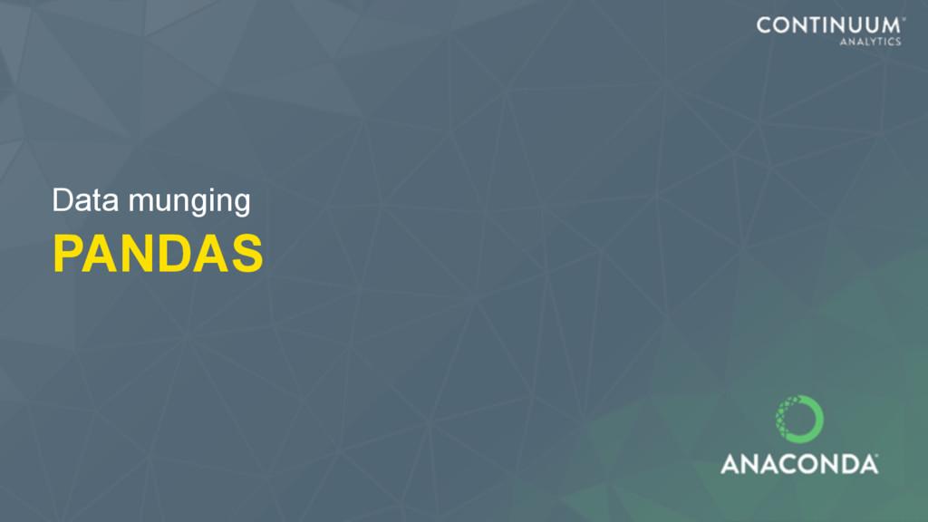 PANDAS Data munging