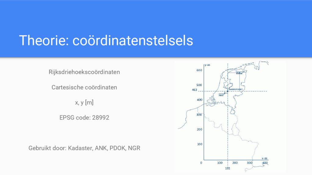 Theorie: coördinatenstelsels Rijksdriehoekscoör...