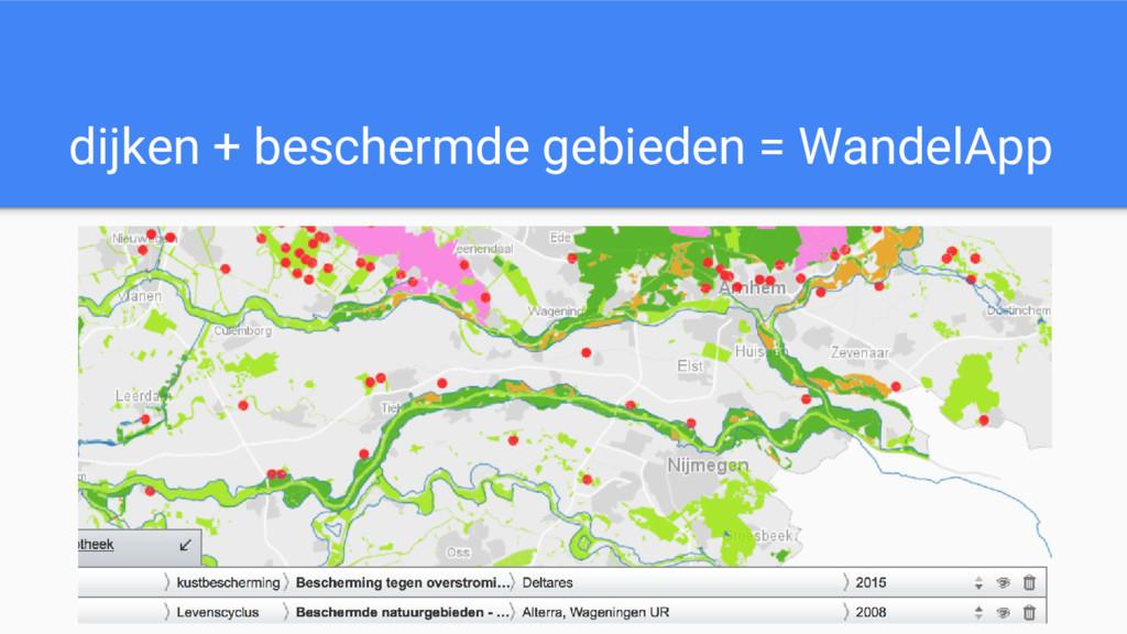 dijken + beschermde gebieden = WandelApp