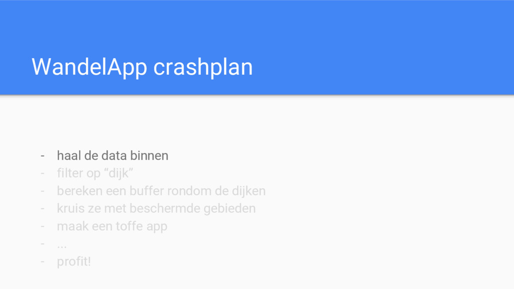 WandelApp crashplan - haal de data binnen - fil...