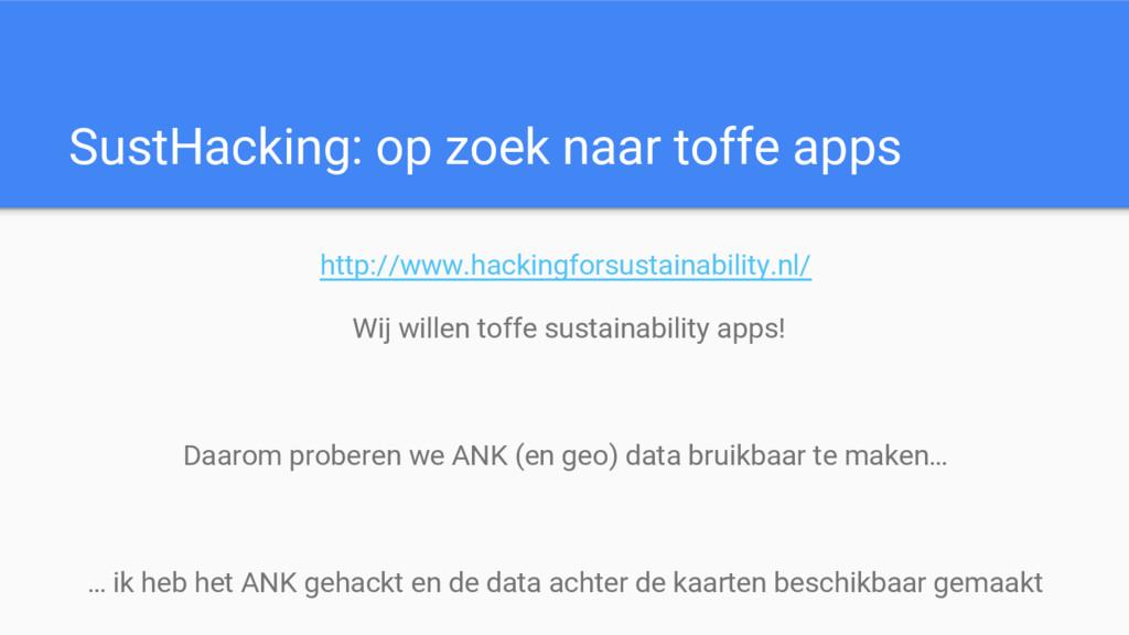 SustHacking: op zoek naar toffe apps http://www...