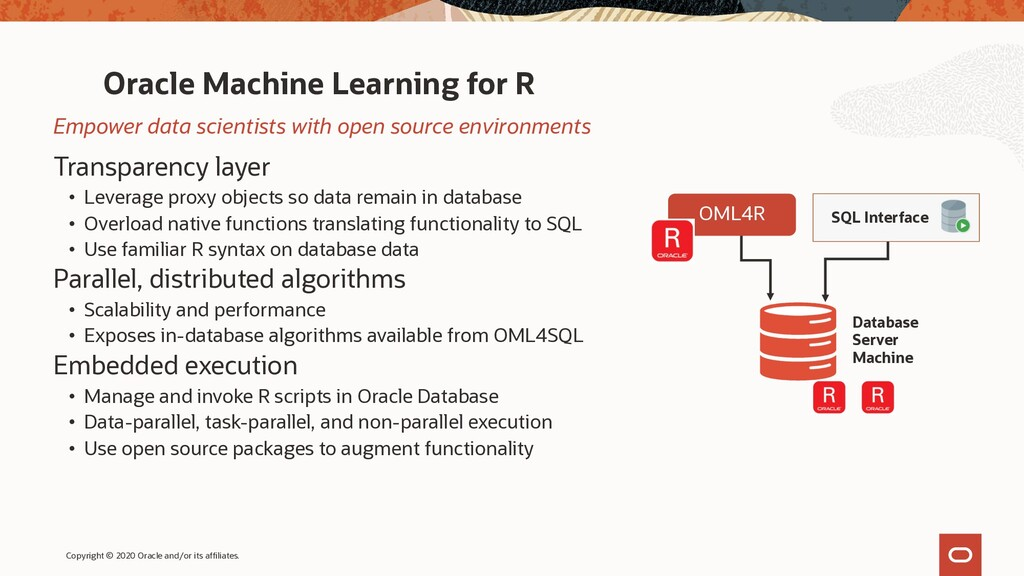 Oracle Machine Learning for R Transparency laye...