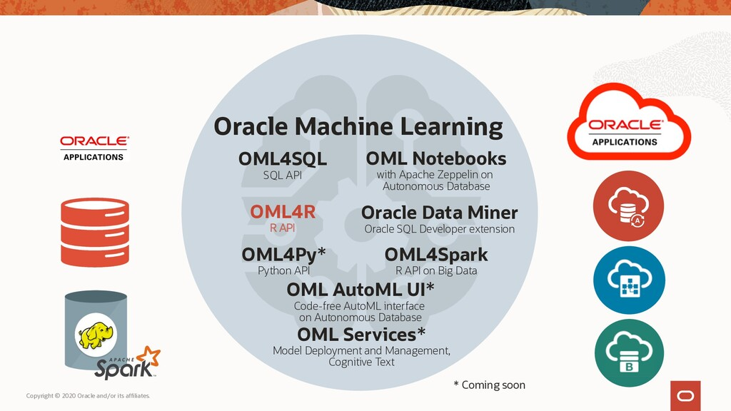 Oracle Machine Learning OML Services* Model Dep...