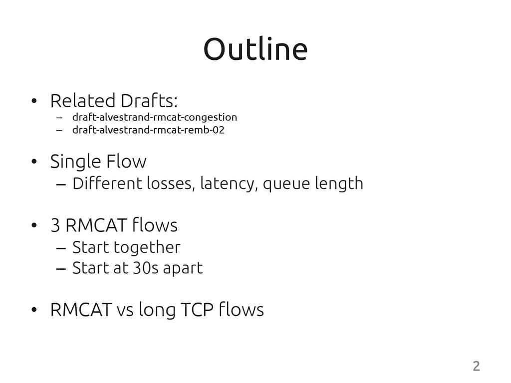 Outline • Related Drafts: – draft-alvestr...