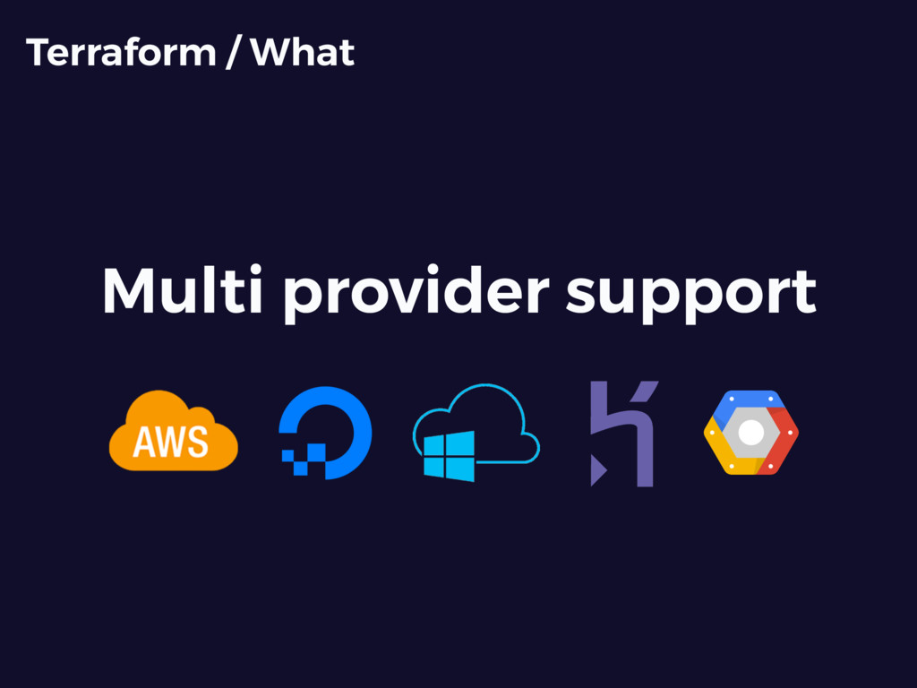 Multi provider support Terraform / What