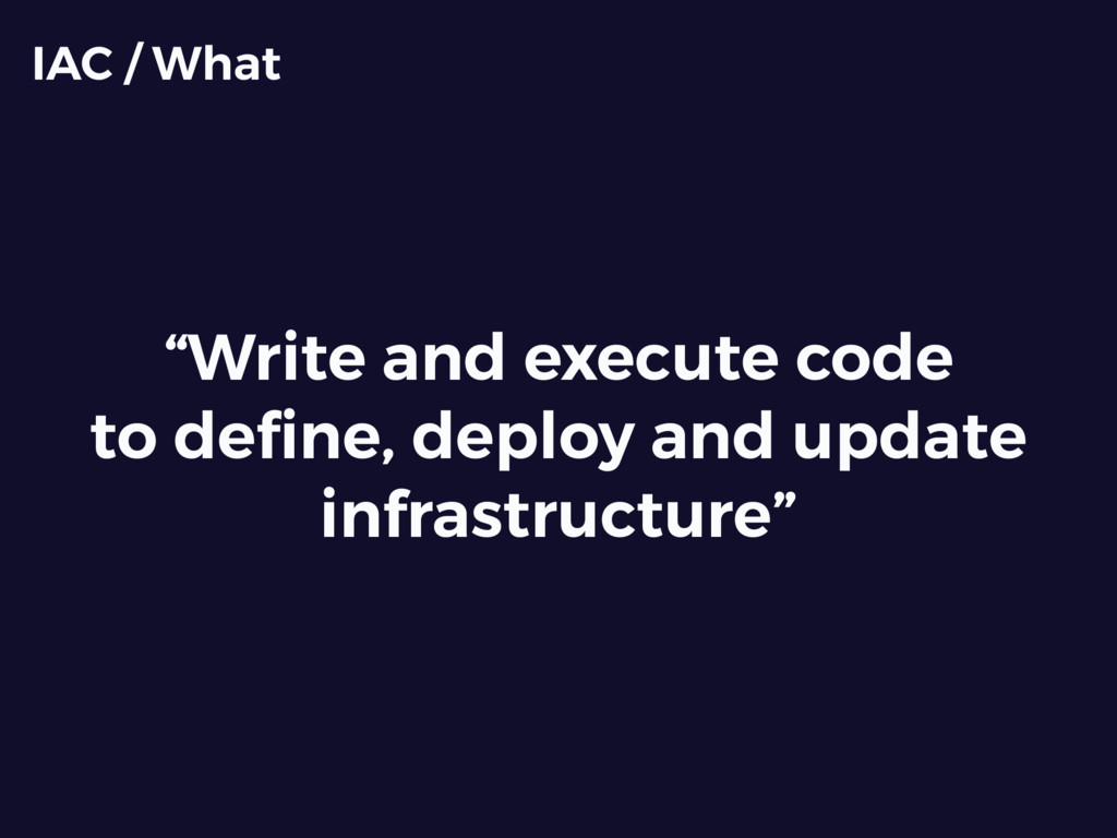 """Write and execute code to define, deploy and up..."