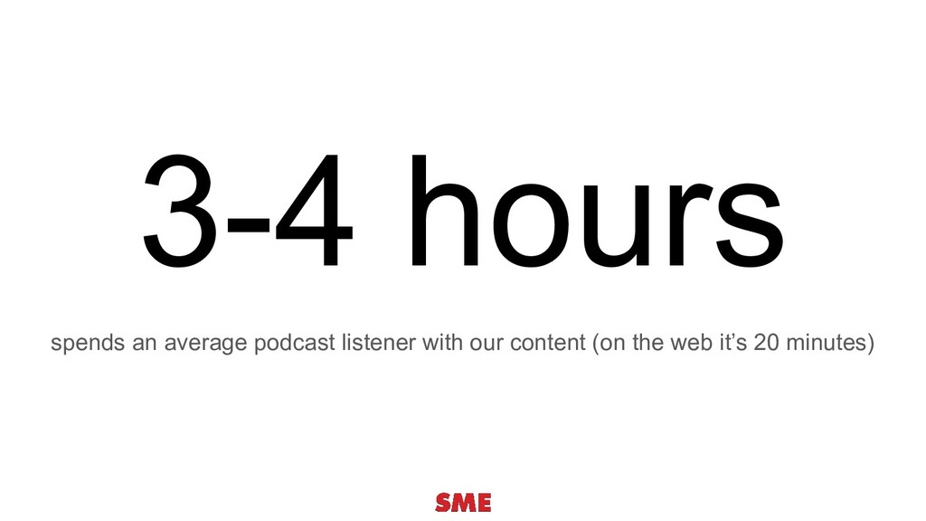 3-4 hours spends an average podcast listener wi...