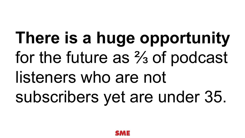 There is a huge opportunity for the future as ⅔...