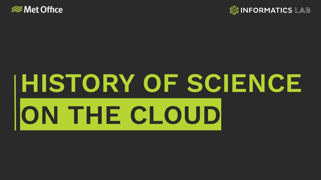 HISTORY OF SCIENCE ON THE CLOUD