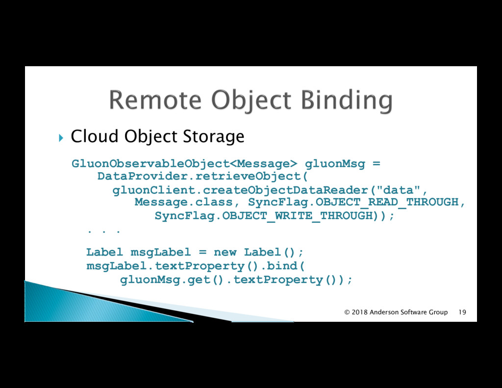 !  Cloud Object Storage GluonObservableObject<M...