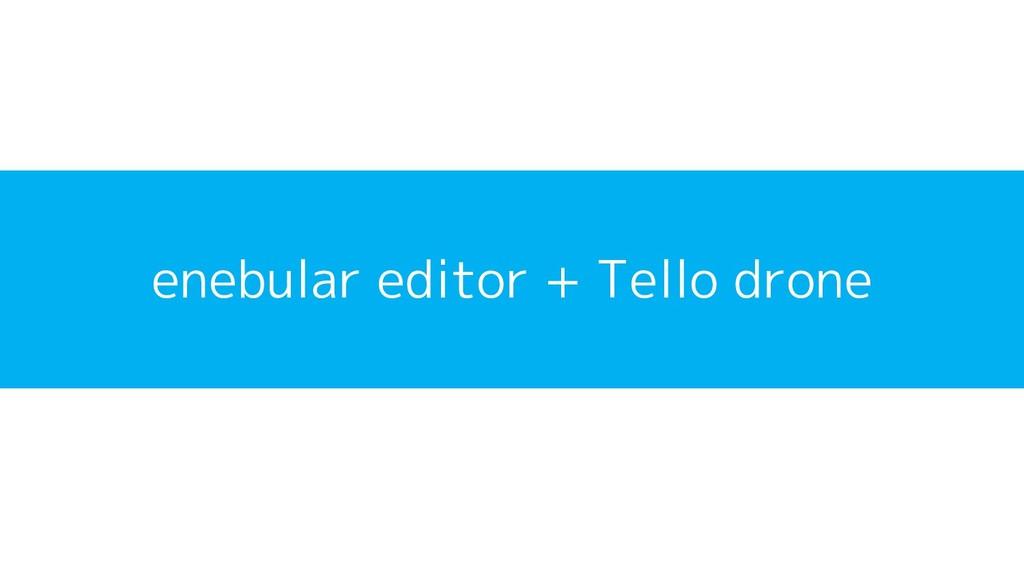 enebular editor + Tello drone