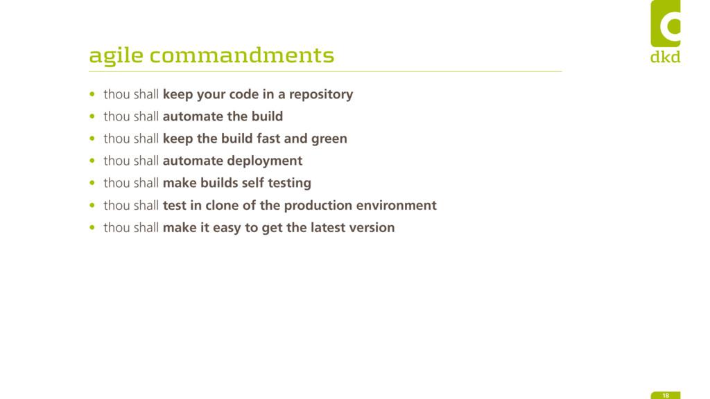 agile commandments • thou shall keep your code ...