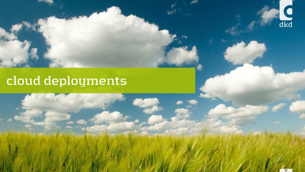 35 cloud deployments