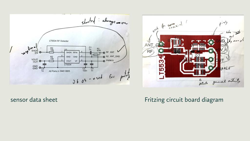 sensor data sheet Fritzing circuit board diagram