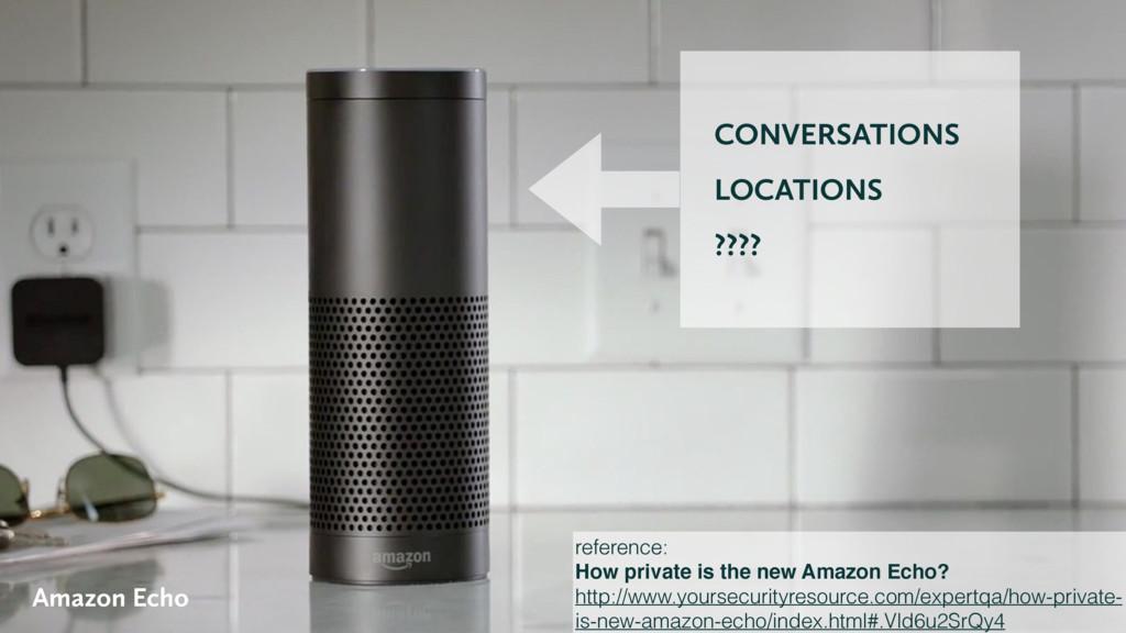 CONVERSATIONS LOCATIONS ???? Amazon Echo refere...