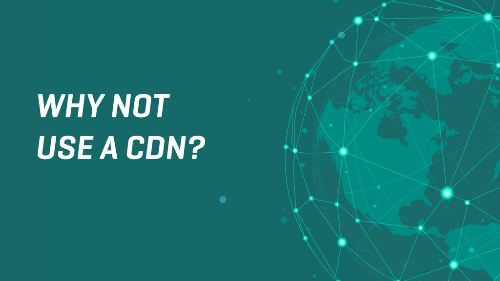 WHY NOT USE A CDN?