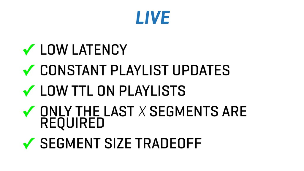 LIVE ✓ LOW LATENCY ✓ CONSTANT PLAYLIST UPDATES ...