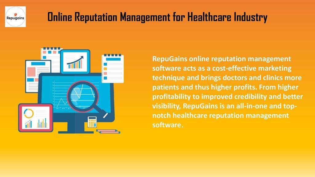 RepuGains online reputation management software...