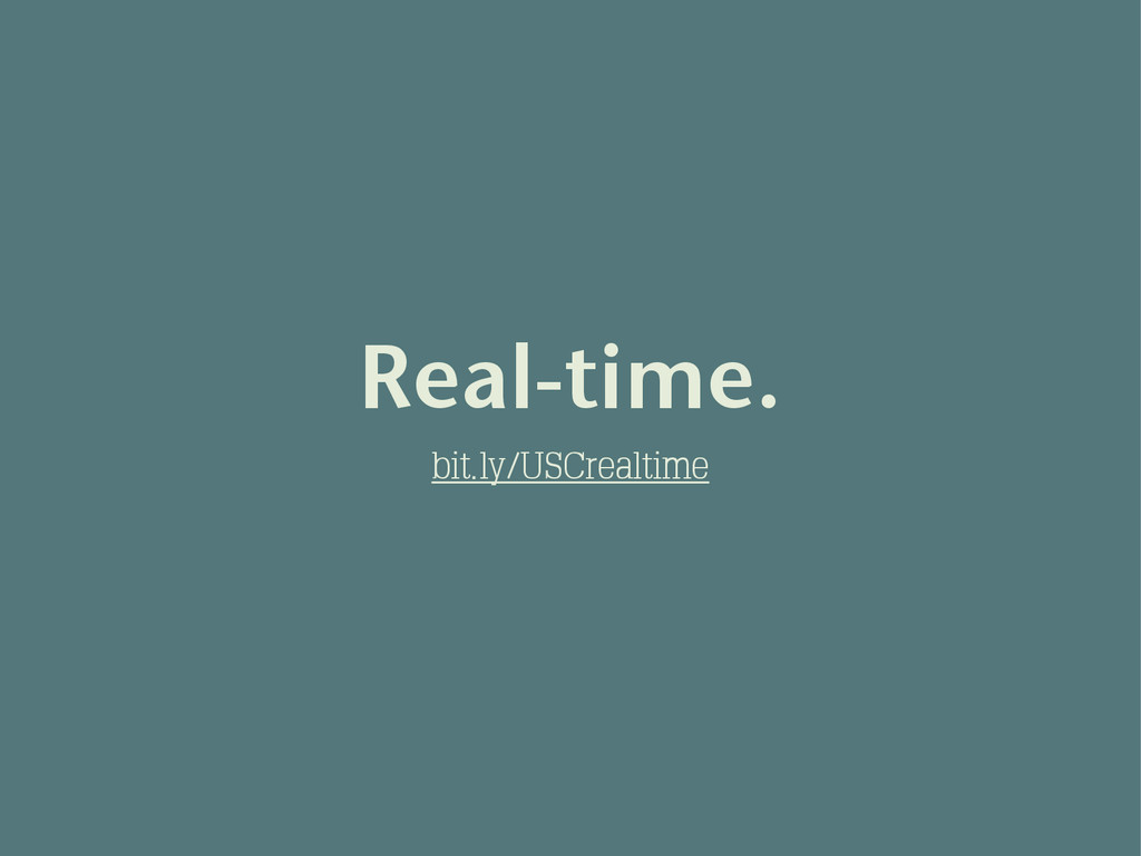 Real-time. bit.ly/USCrealtime