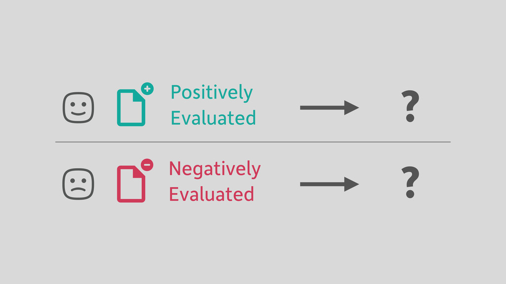 Positively Evaluated Negatively Evaluated ? ?