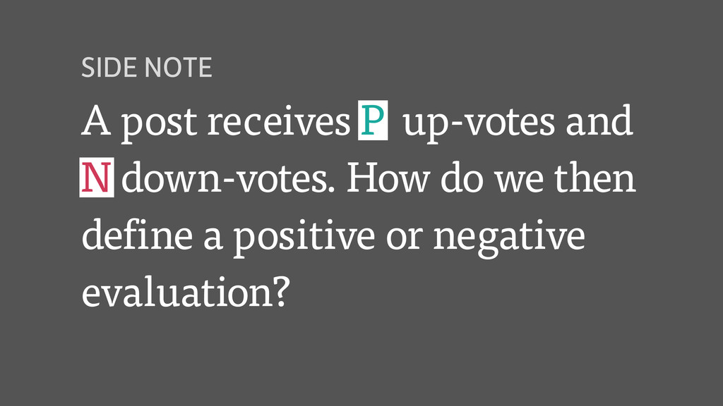 A post receives P up-votes and N down-votes. Ho...