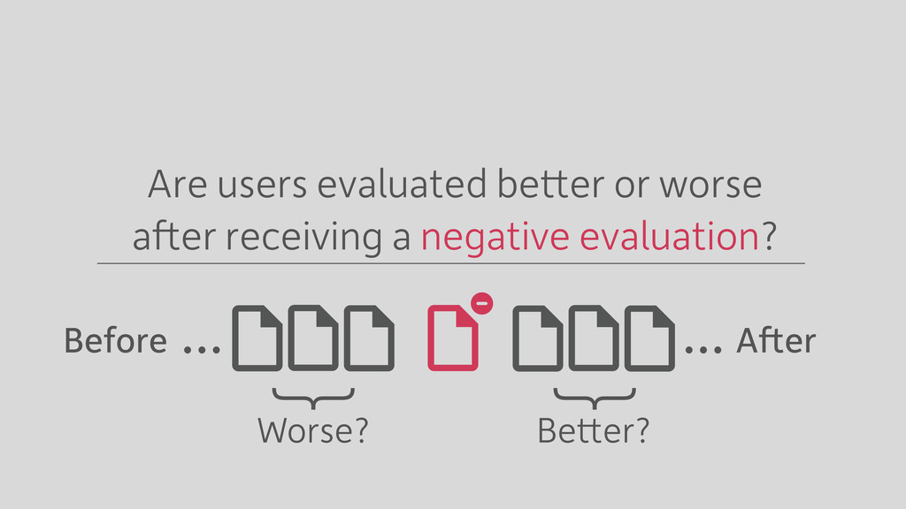 … … Better? Worse? Are users evaluated better o...