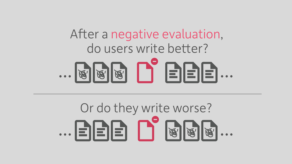 … … After a negative evaluation, Or do they wri...