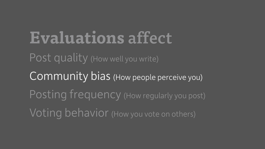 Evaluations affect Post quality (How well you w...