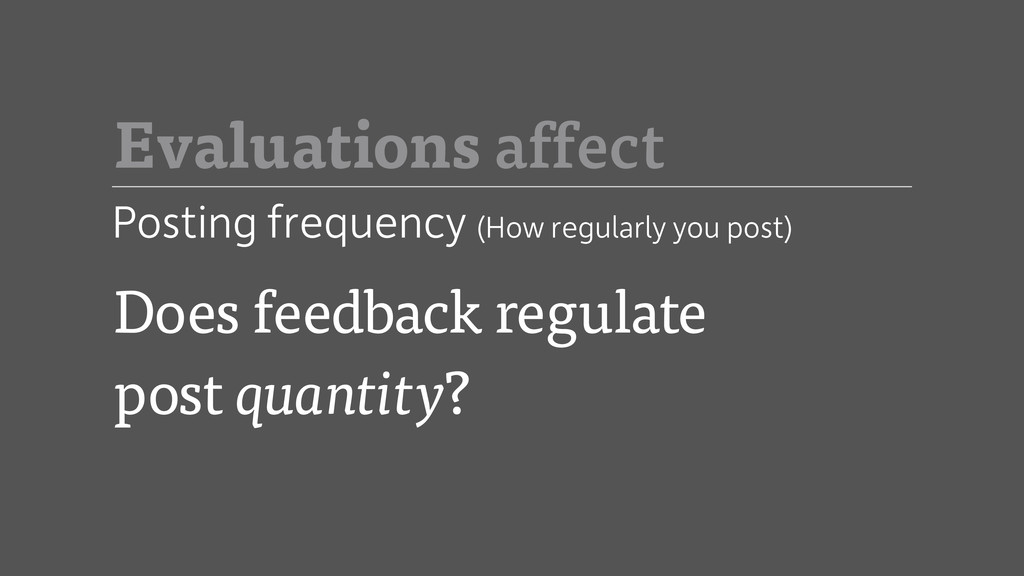 Posting frequency (How regularly you post) Does...