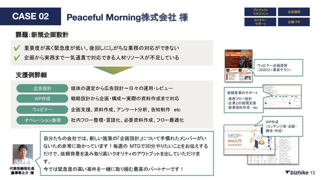 プロジェクト マネジメント カスタマー サポート 広告運用 広報・PR 株式会社 様 ✔ 重要...