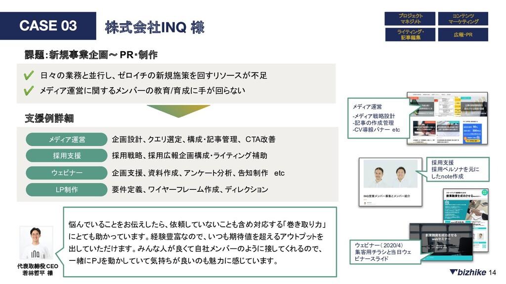新規事業企画 コンテンツ マーケティング ライティング・ 記事編集 株式会社 様 ✔ 日々の業...