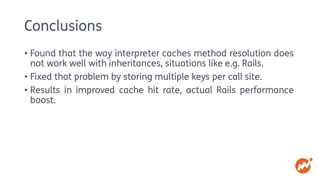 Conclusions • Found that the way interpreter ca...