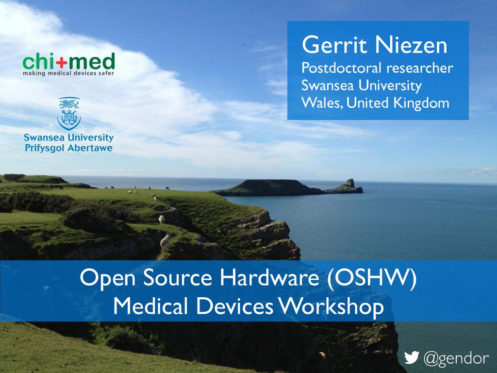 Gerrit Niezen! Postdoctoral researcher! Swansea...