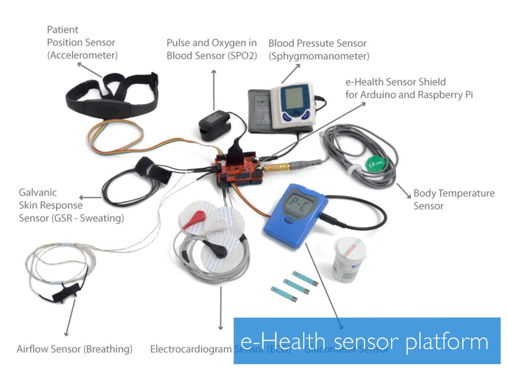 e-Health sensor platform