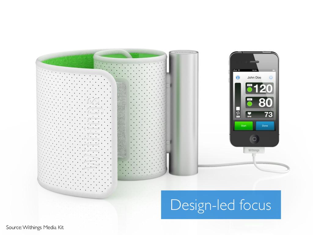 Source: Withings Media Kit Design-led focus