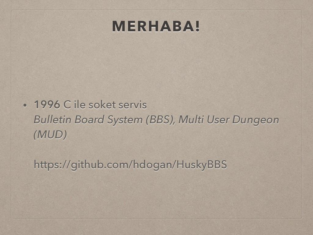 MERHABA! • 1996 C ile soket servis Bulletin Bo...