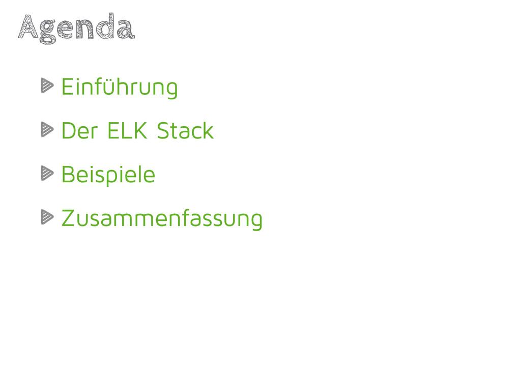 Einführung Der ELK Stack Beispiele Zusammenfass...